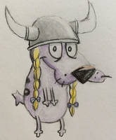 Courage the Cowardly Viking Dog by CaptainEdwardTeague