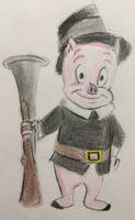 Porky Pig Pilgrim by CaptainEdwardTeague