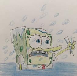 SpongeBob Freezing by CaptainEdwardTeague