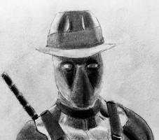 Deadpool Noir by CaptainEdwardTeague