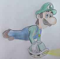 Luigi and Koopa Shell by CaptainEdwardTeague
