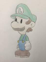 Paper Luigi by CaptainEdwardTeague