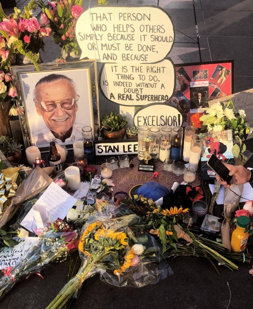 Stan Lee Memorial on Hollywood Walk of Fame