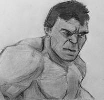 The Incredible Hulk Monochromatic by CaptainEdwardTeague