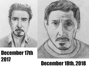 Tony Stark Before and After by CaptainEdwardTeague