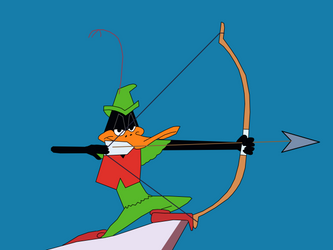 Daffy Duck as Robin Hood with Bow and Arrow by CaptainEdwardTeague