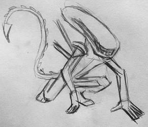 Xenomorph Rough Draft by CaptainEdwardTeague