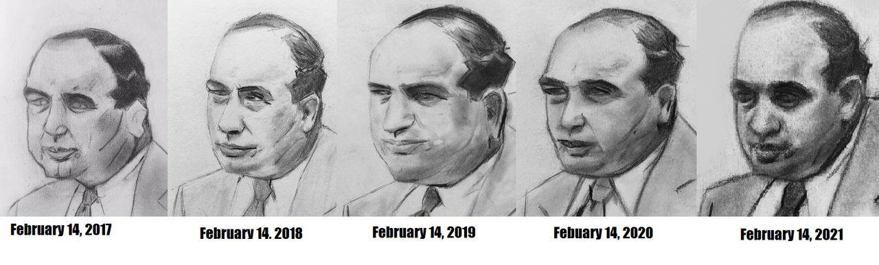 5 years worth of Al Caponeee Portaits