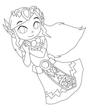 Spirit Zelda Lineart Commission