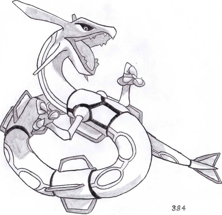 384 rayquaza by sorasonic on deviantart for Rayquaza coloring pages