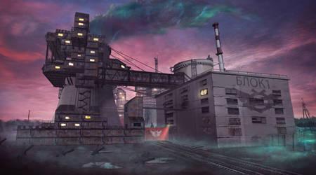 Nuclear power plant city hub