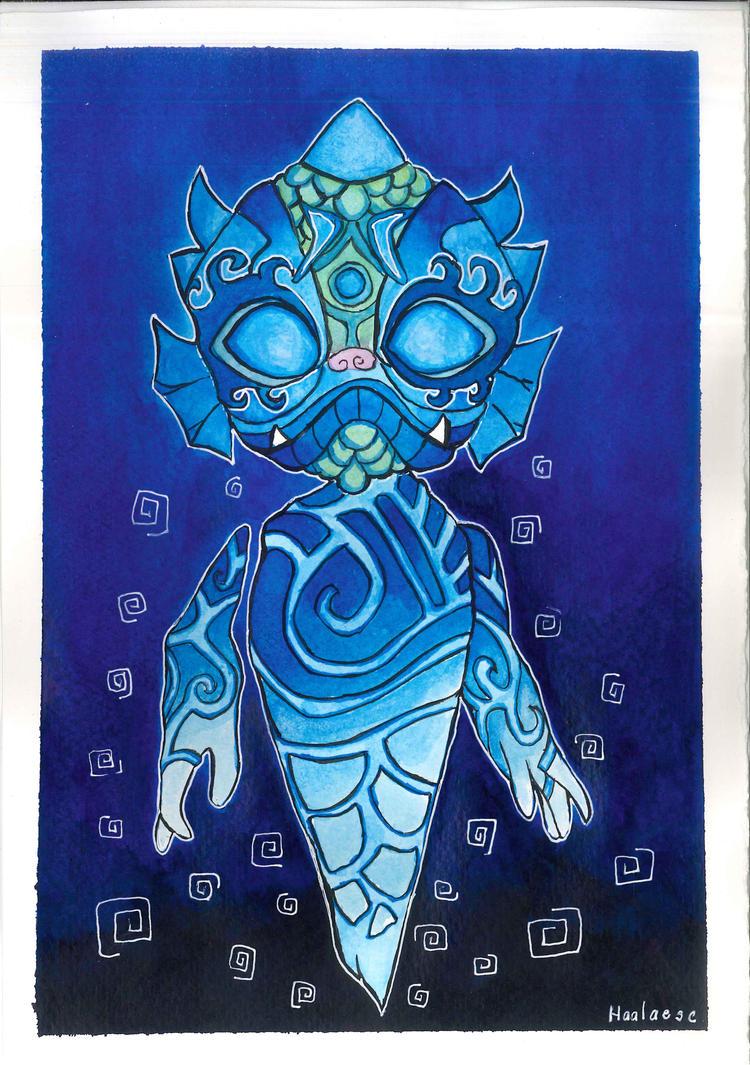 Shu, spirit of water by Haalaesc
