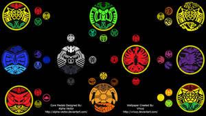 Kamen Rider OOO Core Medals Wallpaper