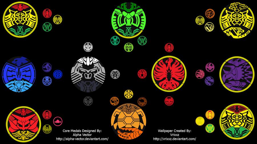 Kamen Rider OOO Core Medals Wallpaper by vrixxzKamen Rider Ooo Burakawani Logo