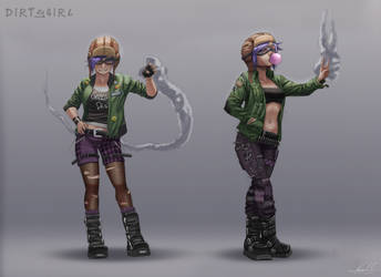 CCH DirtyGirl - concept art by karlsia