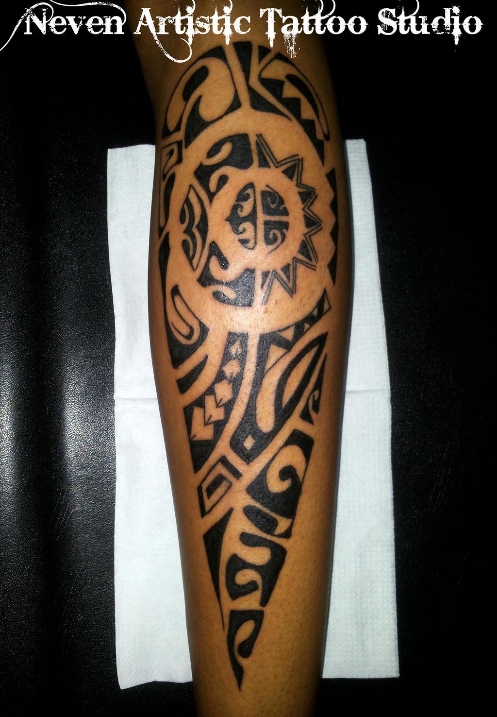 Maori Calf Tattoo: Calf Maori Tattoo By Nevenperson On DeviantArt