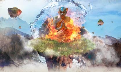 Aang in the sky