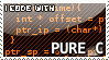 I code with Pure C stamp by Raidho36