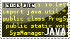 I code with Java stamp