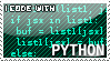 I code with Python stamp by Raidho36