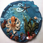 'Octopus Dance' Polymer Clay Wall Hanging