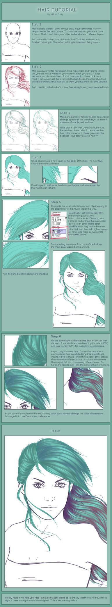 Hair Tutorial by ribkaDory