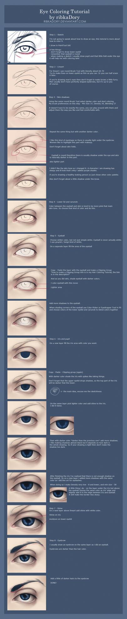 Eye Coloring Tutorial by ribkaDory