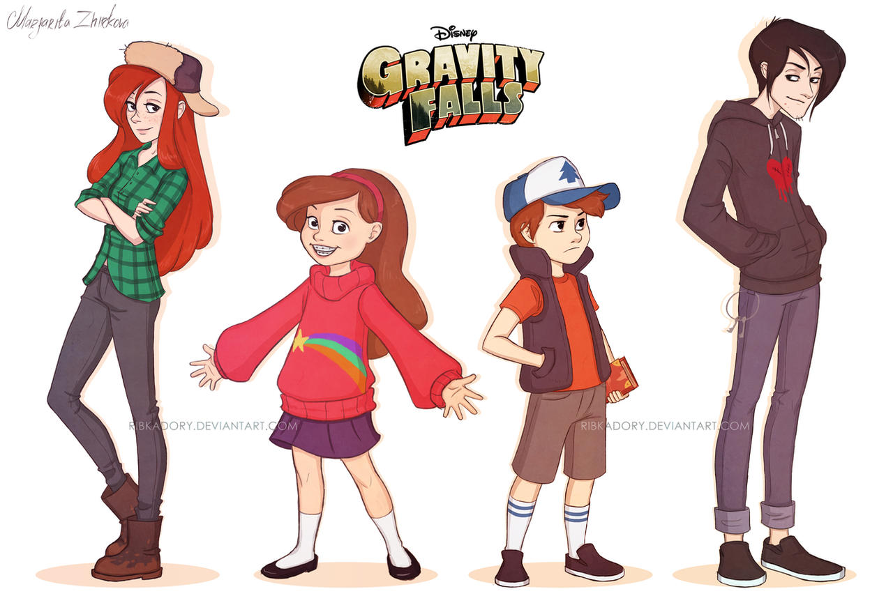 Gravity Falls by ribkaDory