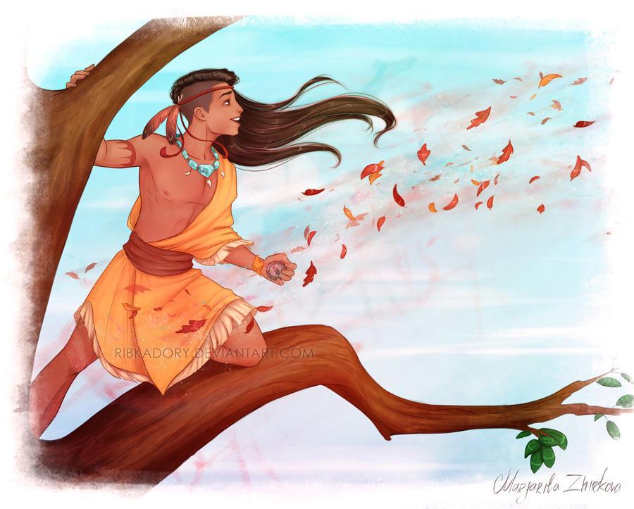 Pocahontas Genderbend by ribkaDory