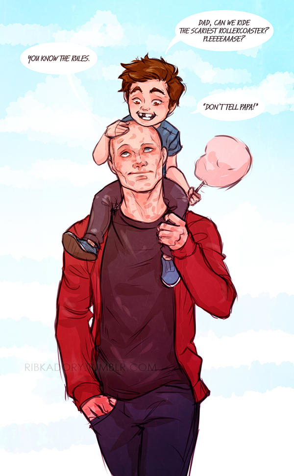 Dadpool by ribkaDory