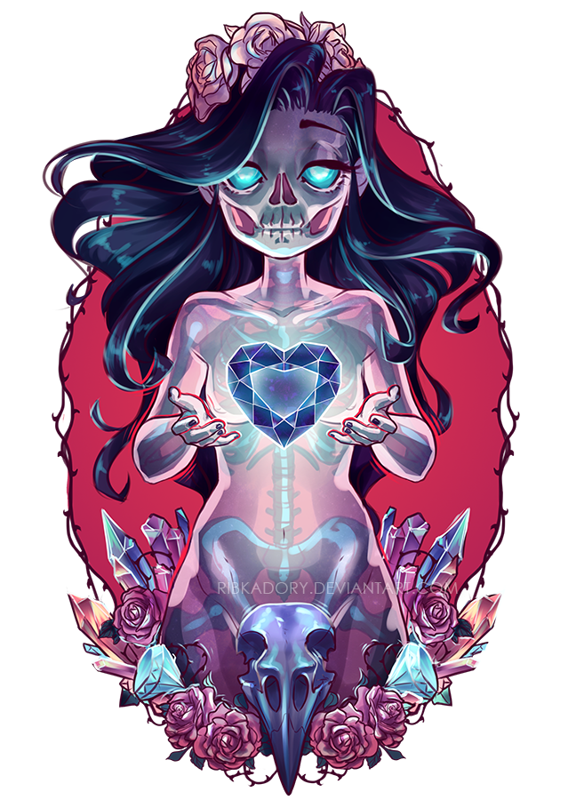 Ghost Girl Drawloween2015 by ribkaDory