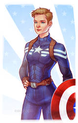 Captain America by ribkaDory