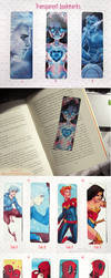 Transparent bookmarks and stickers by ribkaDory