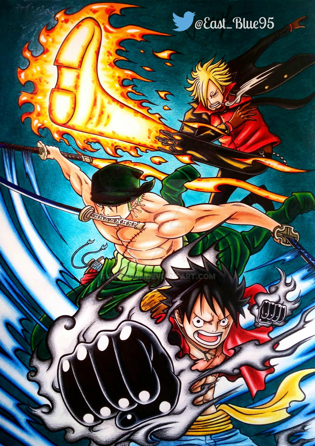 One Piece Monster Trio By Ryoku95 On Deviantart