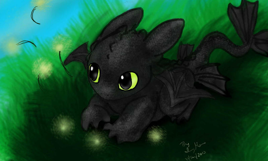 Baby Toothless Chimuelo By IvyMomo