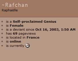 Rafchan got 69 pageviews.