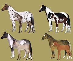 Mare and Foal Adoptables 5 - CLOSED by Anonymous-Shrew