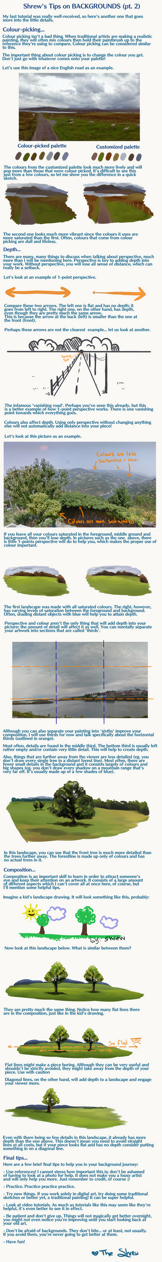 The Shrew's Tips on Backgrounds - pt. 2