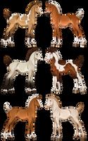 Light gene foalies - CLOSED by Anonymous-Shrew