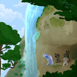 Water Falling by DaBlueNinjaz