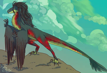 Utahraptor by DaBlueNinjaz