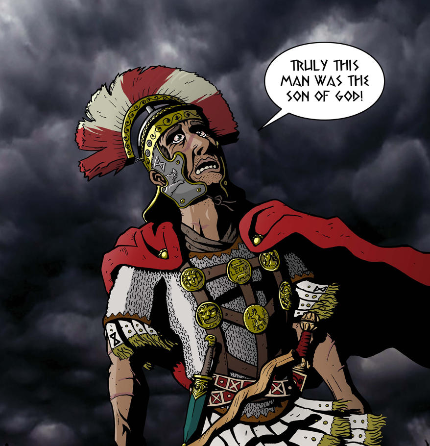 Roman Centurion: Truly this man was the son of God by Word4WordBibleComic