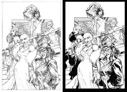 ink test - T. Dodson's X-Girls