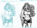 Ink test - Justice41's Witchblade