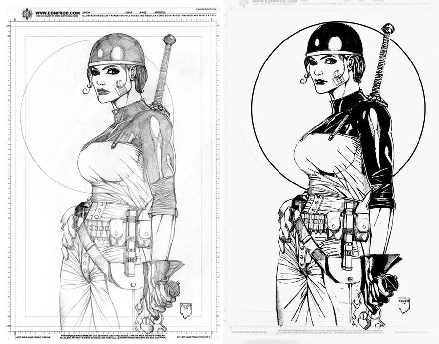 ink test - Justice41's Zealot by Docolomansky
