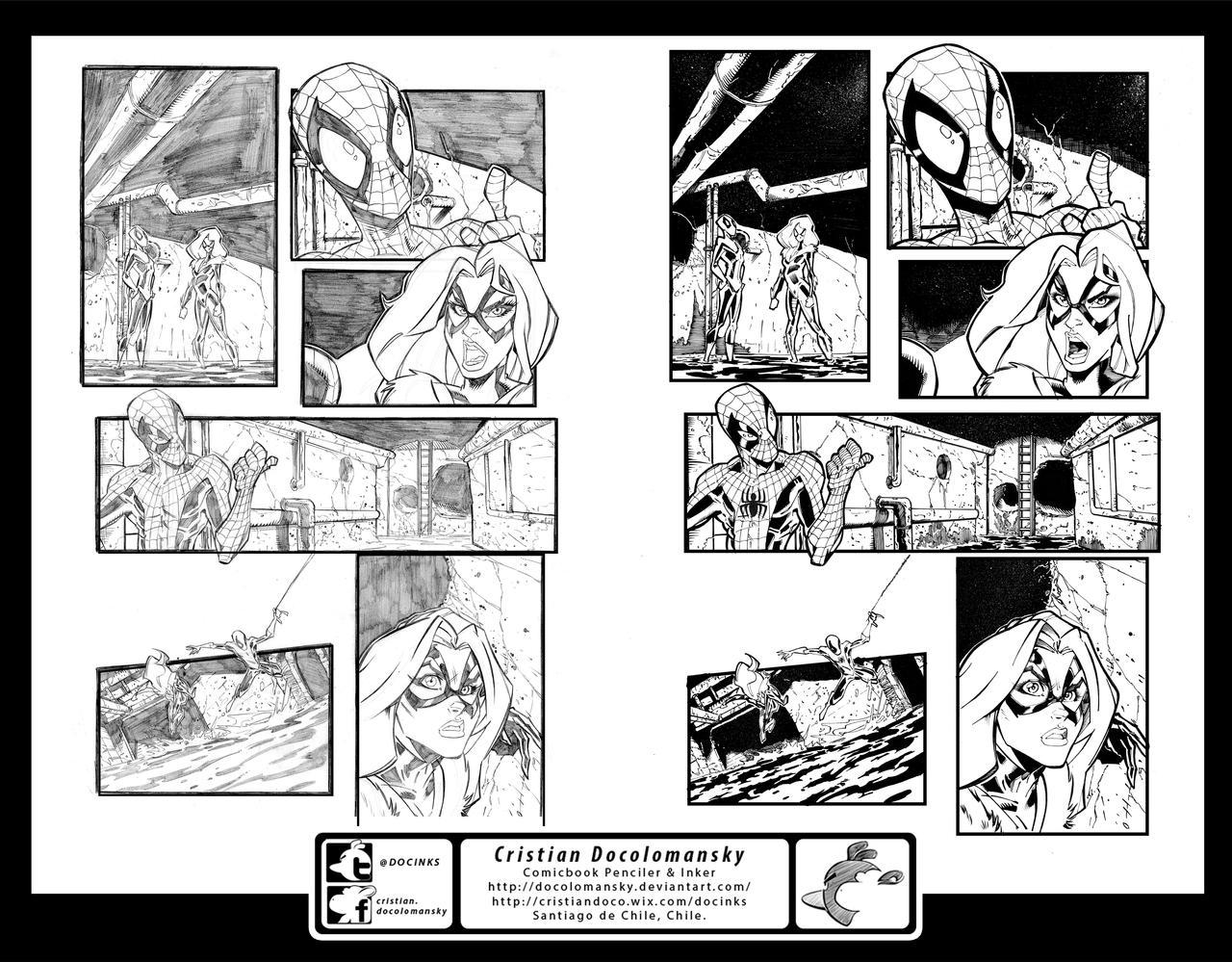 Ink job Spiderman test Combined by Docolomansky