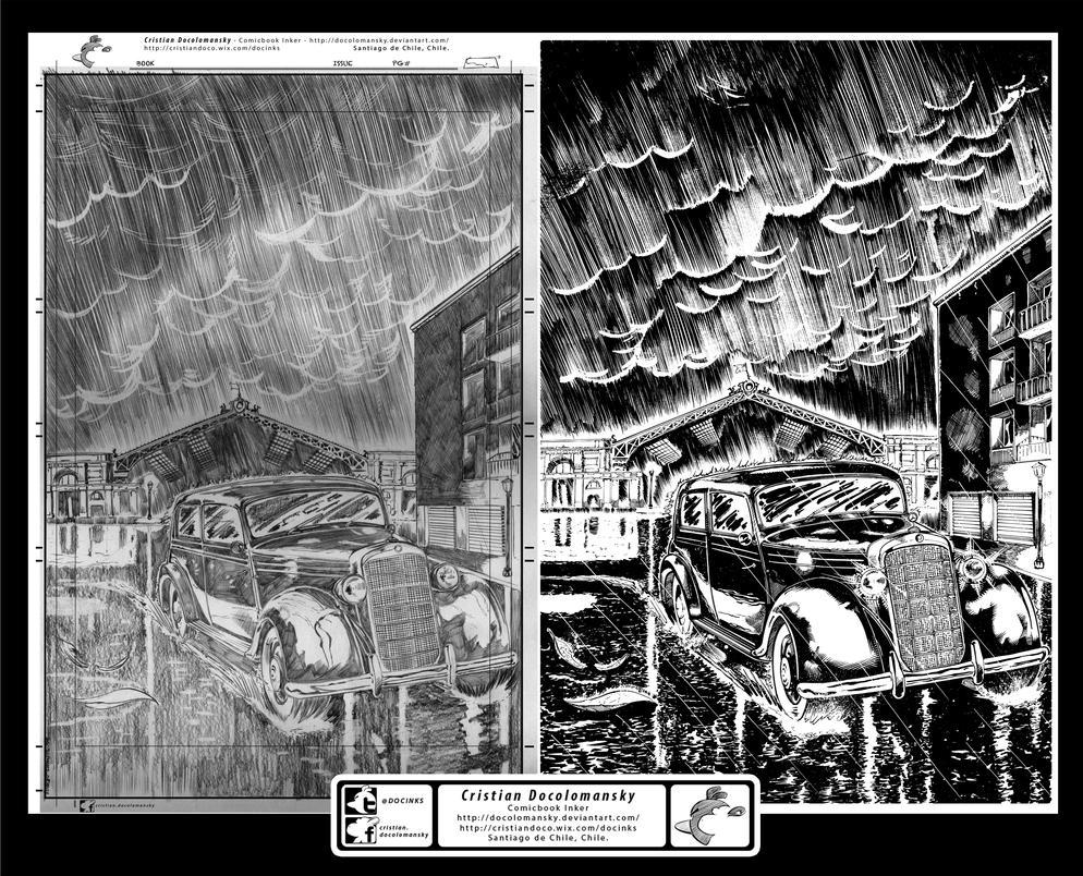 El Viudo El fin del Luto page 01 Inks by Docolomansky