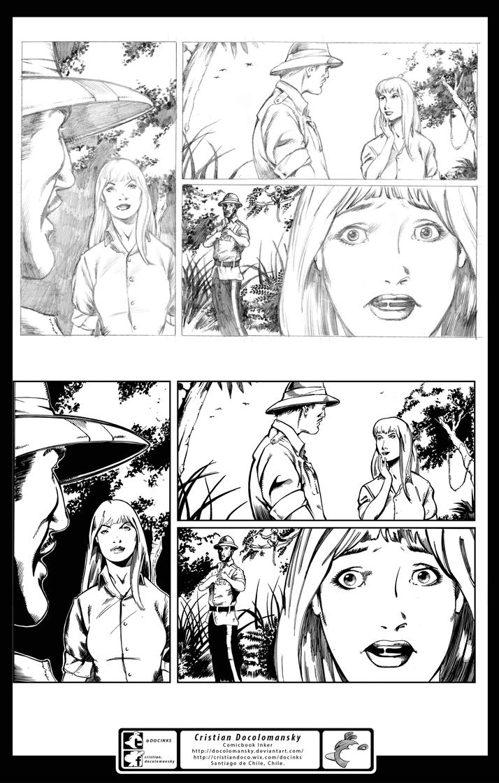 The Monster Men 01 page 17 inks Combined by Docolomansky