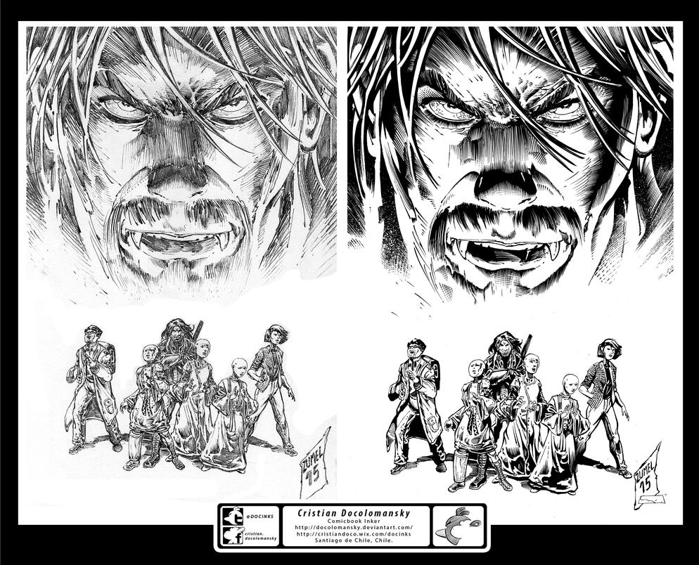 Outbreak Comics Cvr Inks by Docolomansky