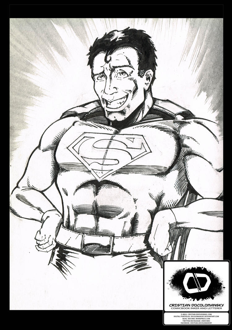 Superman Dude sketch by Docolomansky